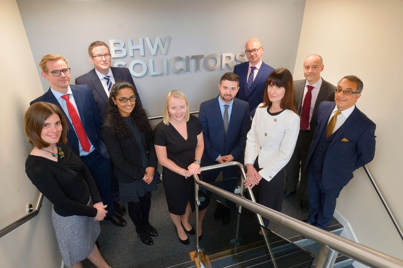 Some of the team at BHW Solicitors (Image: Leicester Mercury)
