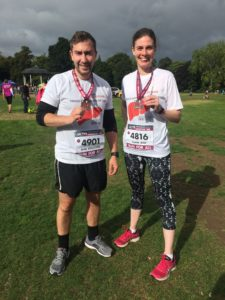 Daniel Rennocks and Claire Bell complete the Leicester 10k