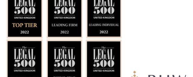 Legal 500 2022 rankings